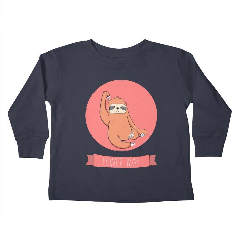 Power Nap- Red Kids Toddler Longsleeve T-Shirt by Boshik's Tshirt Shop