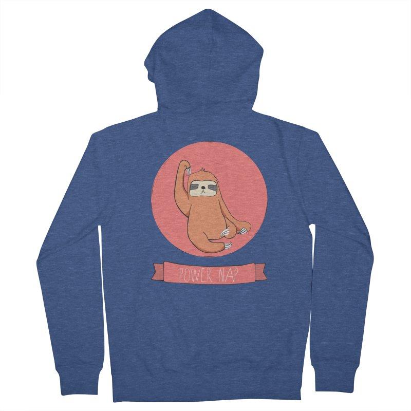 Power Nap- Red Men's French Terry Zip-Up Hoody by Boshik's Tshirt Shop