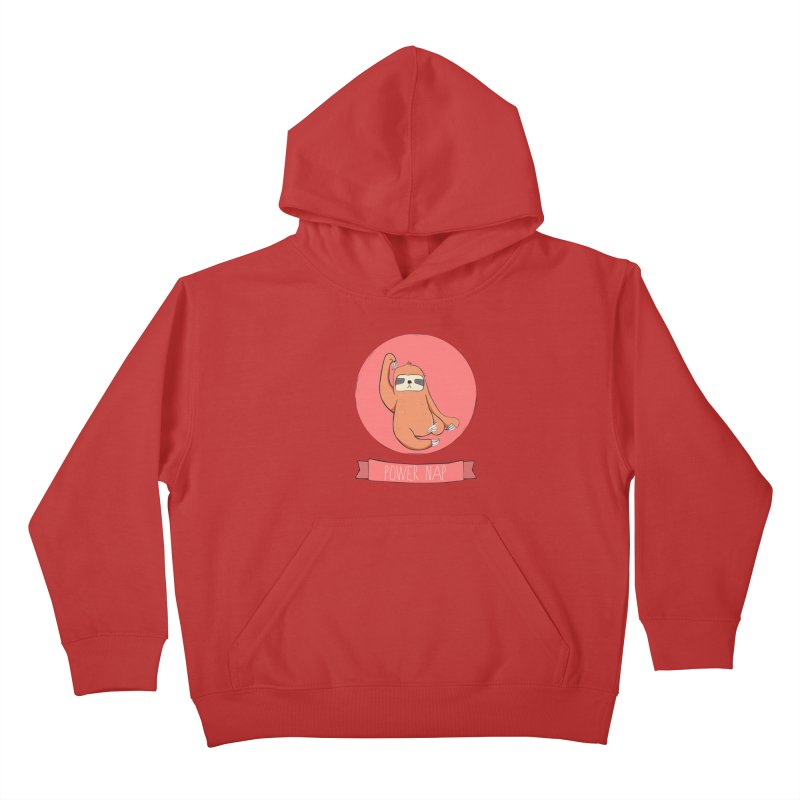 Power Nap- Red Kids Pullover Hoody by Boshik's Tshirt Shop