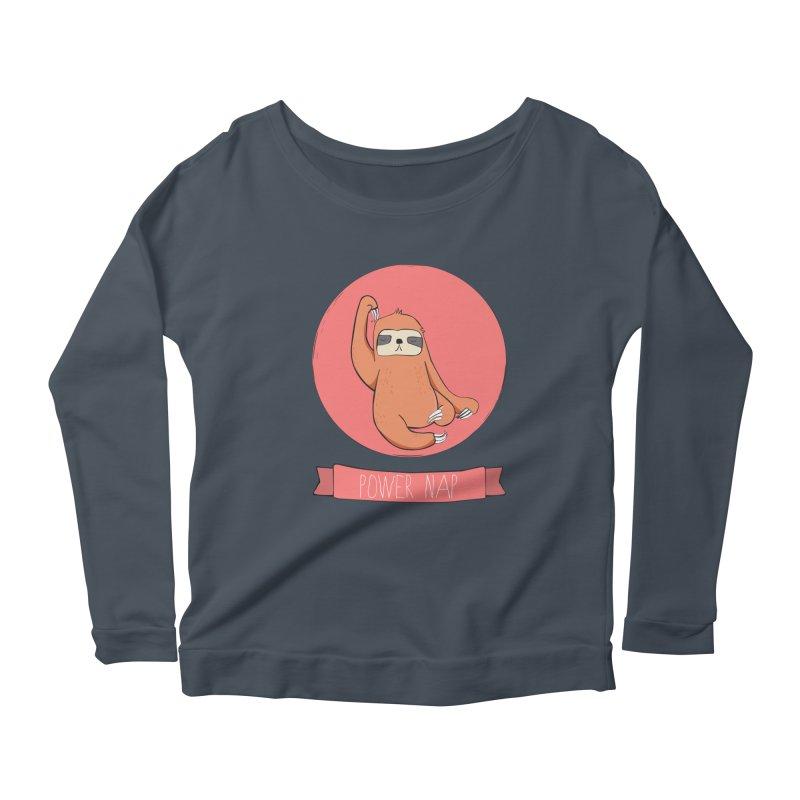 Power Nap- Red Women's Scoop Neck Longsleeve T-Shirt by Boshik's Tshirt Shop