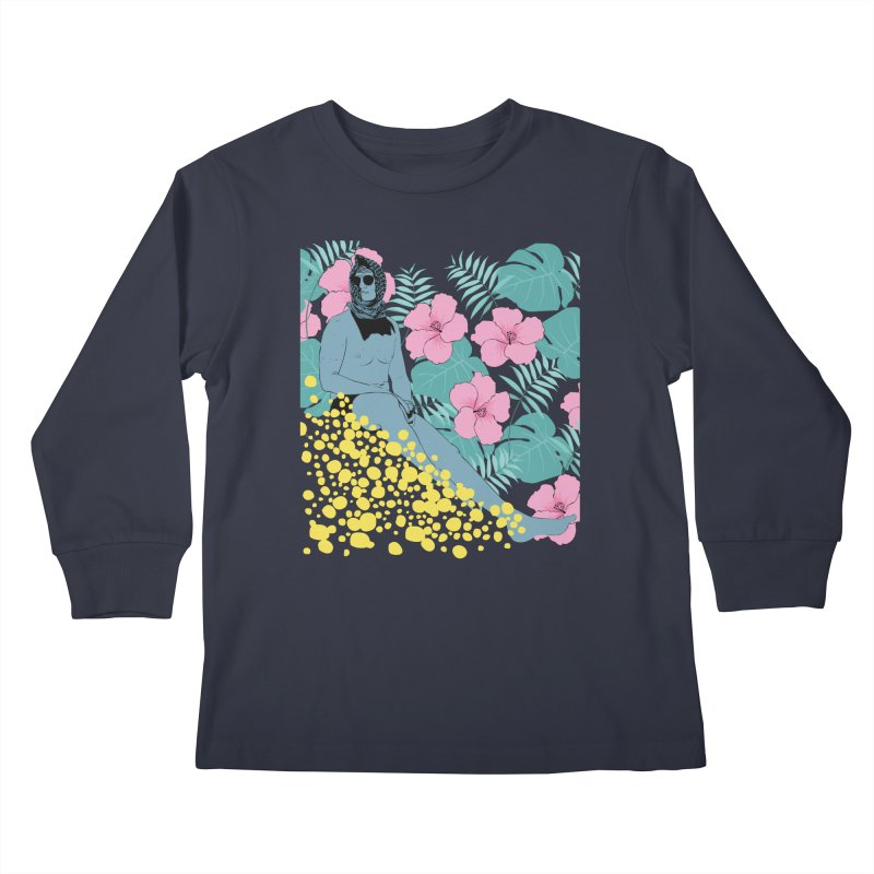 Floral Kids Longsleeve T-Shirt by Boshik's Tshirt Shop