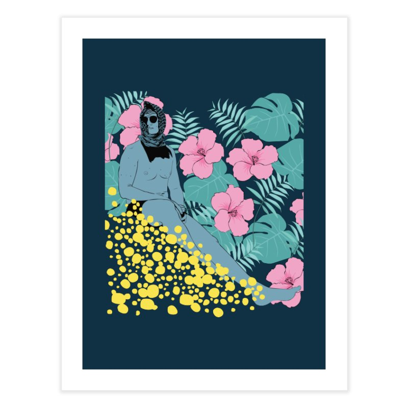 Floral Home Fine Art Print by Boshik's Tshirt Shop