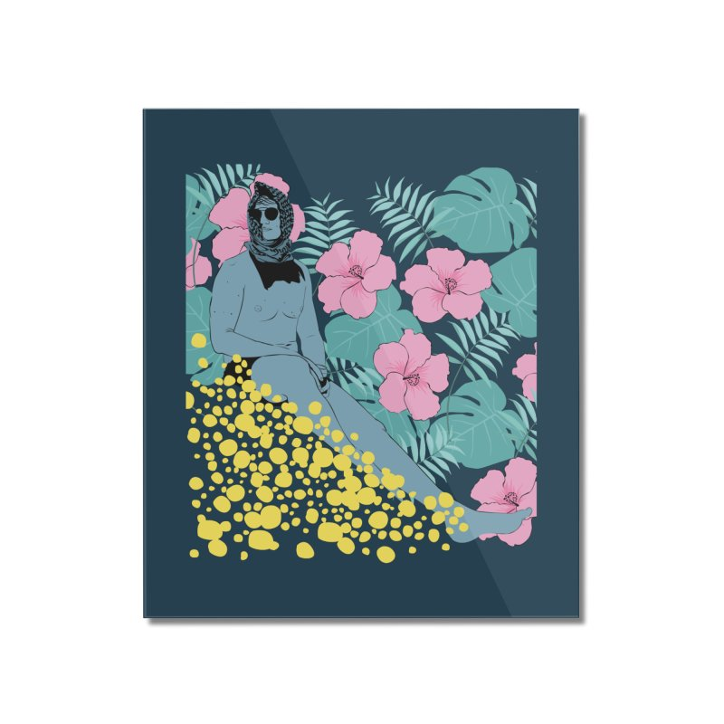 Floral Home Mounted Acrylic Print by Boshik's Tshirt Shop