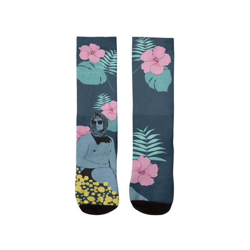 Floral Men's Socks by Boshik's Tshirt Shop