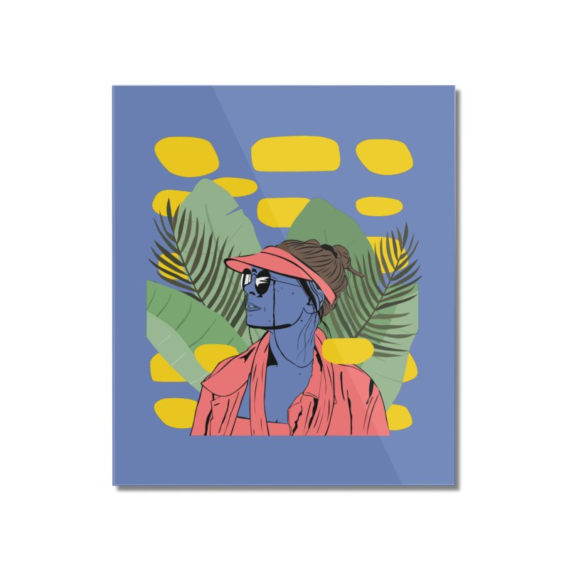 Jade Home Mounted Acrylic Print by Boshik's Tshirt Shop