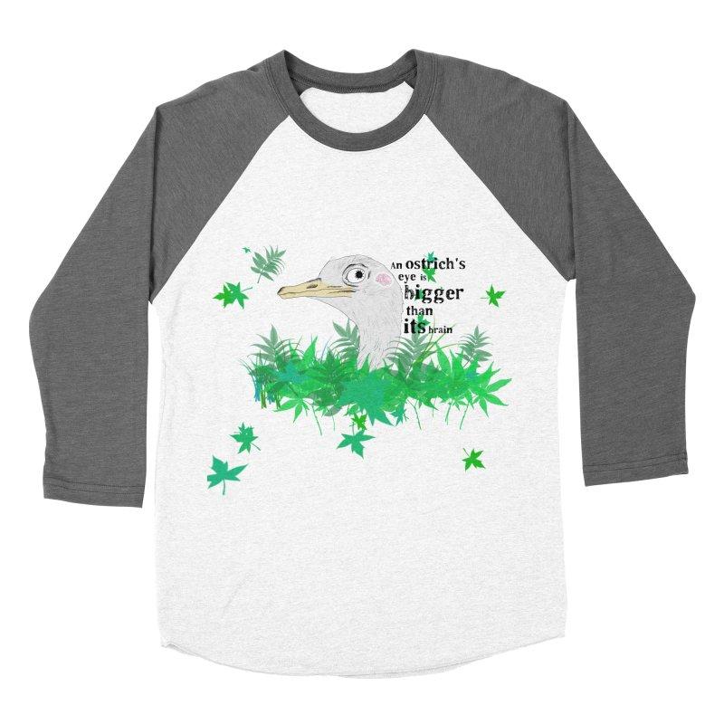 An Ostrich's eye is bigger than it's brain Women's Longsleeve T-Shirt by Boshik's Tshirt Shop