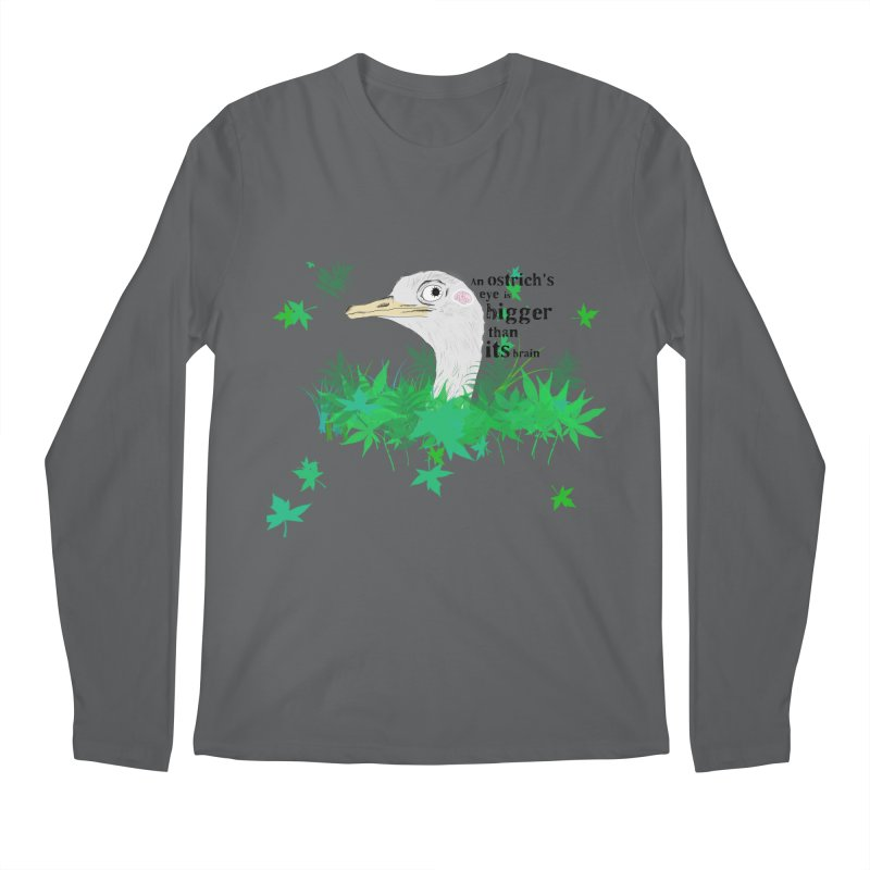 An Ostrich's eye is bigger than it's brain Men's Longsleeve T-Shirt by Boshik's Tshirt Shop