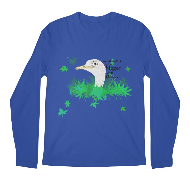 An Ostrich's eye is bigger than it's brain Men's Regular Longsleeve T-Shirt by Boshik's Tshirt Shop