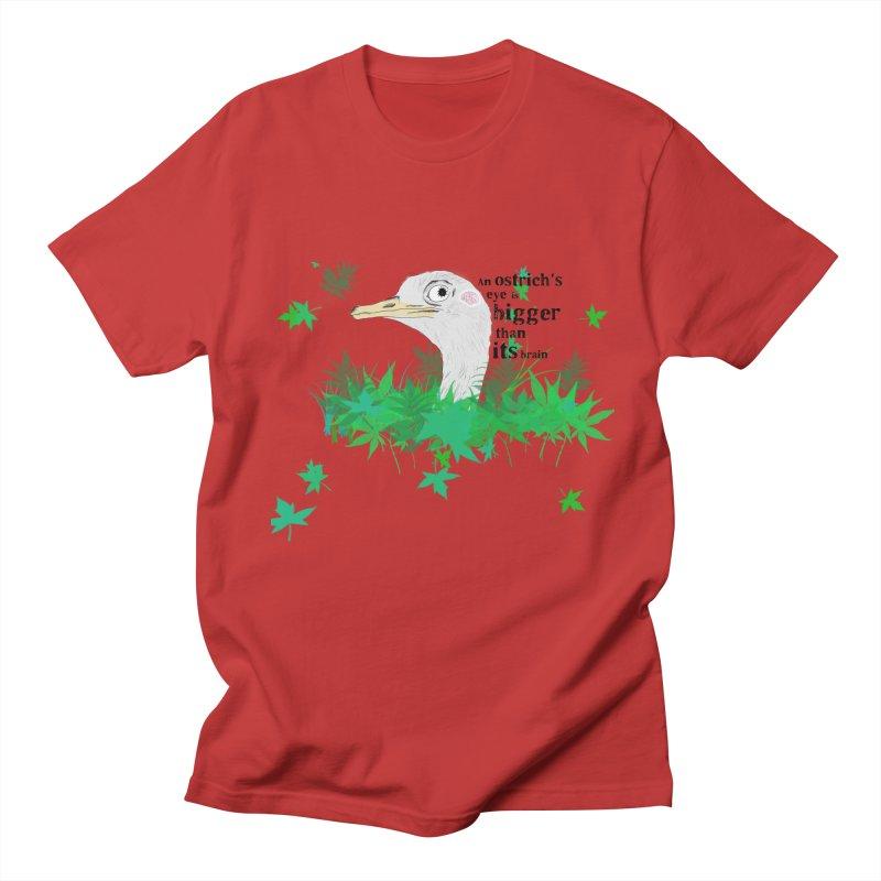 An Ostrich's eye is bigger than it's brain Women's Unisex T-Shirt by Boshik's Tshirt Shop