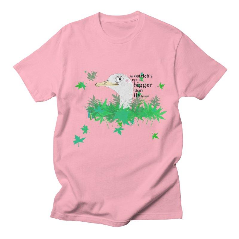 An Ostrich's eye is bigger than it's brain Men's T-Shirt by Boshik's Tshirt Shop