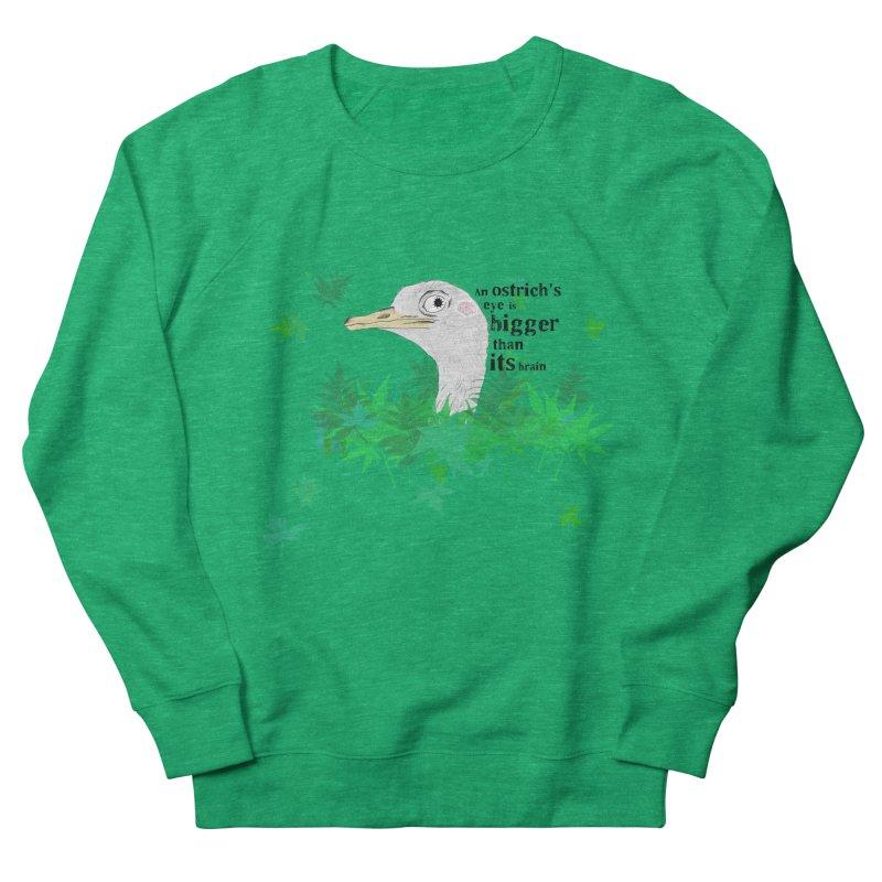 An Ostrich's eye is bigger than it's brain Men's Sweatshirt by Boshik's Tshirt Shop