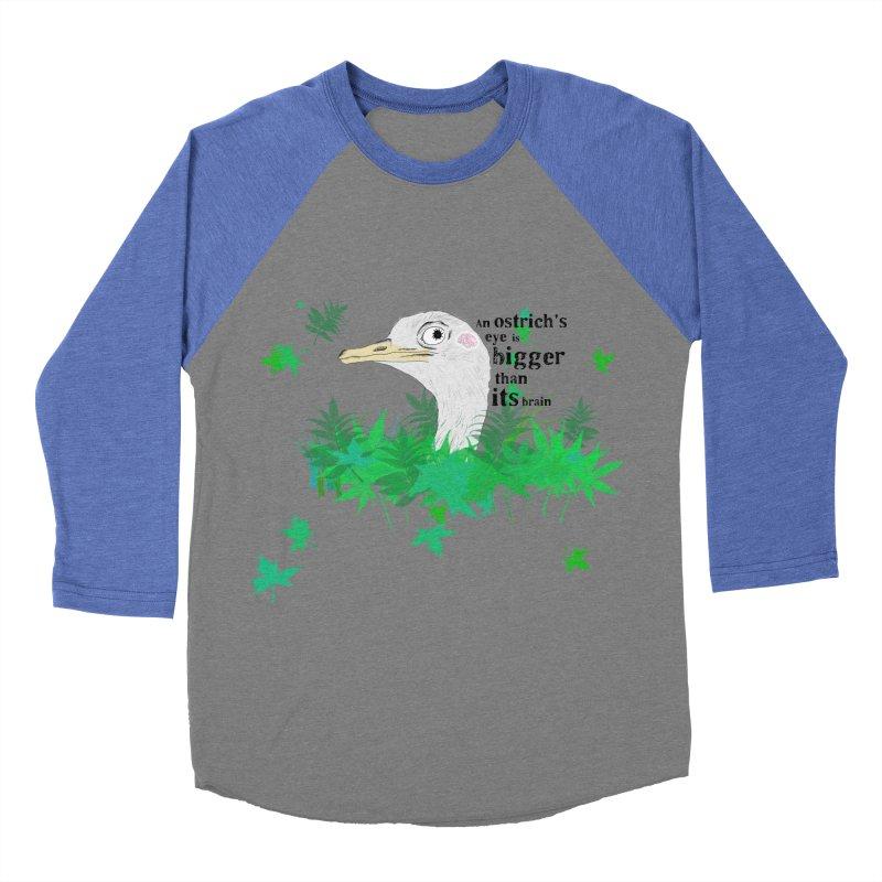 An Ostrich's eye is bigger than it's brain Women's Baseball Triblend Longsleeve T-Shirt by Boshik's Tshirt Shop