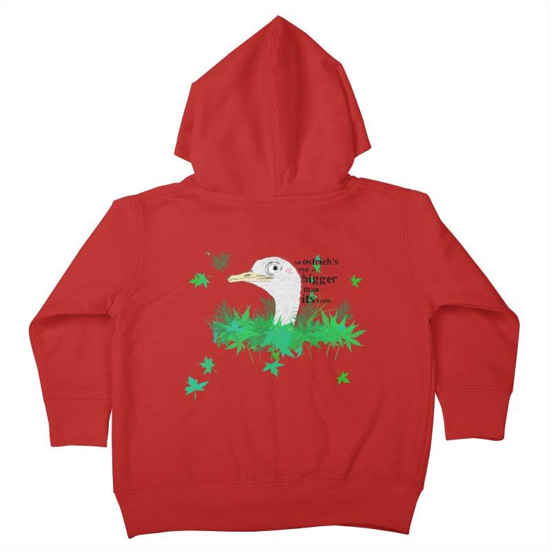 An Ostrich's eye is bigger than it's brain Kids Toddler Zip-Up Hoody by Boshik's Tshirt Shop
