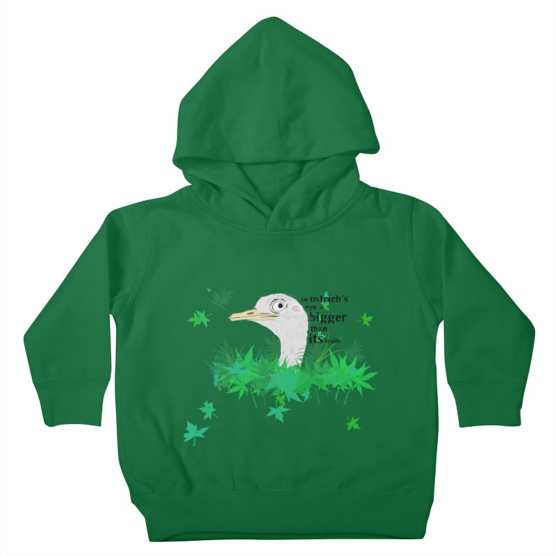 An Ostrich's eye is bigger than it's brain Kids Toddler Pullover Hoody by Boshik's Tshirt Shop