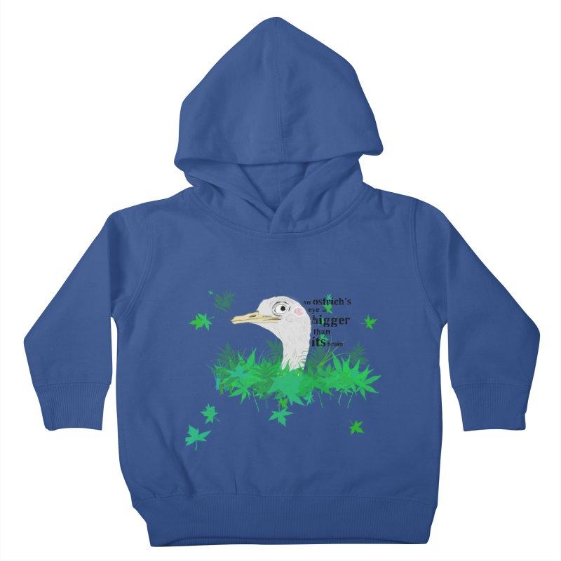 An Ostrich's eye is bigger than it's brain Kids Toddler Pullover Hoody by Boshik's Tshirt Shop