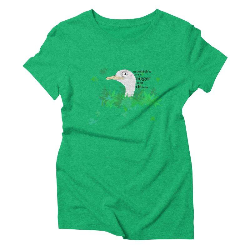 An Ostrich's eye is bigger than it's brain Women's Triblend T-shirt by Boshik's Tshirt Shop