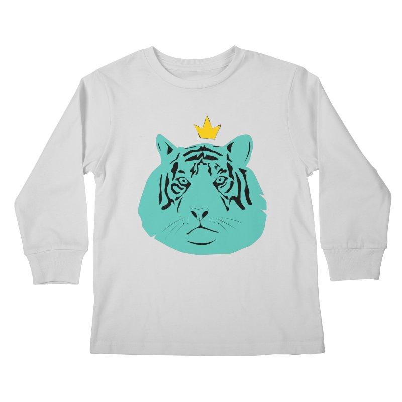 Tigerking Kids Longsleeve T-Shirt by Boshik's Tshirt Shop