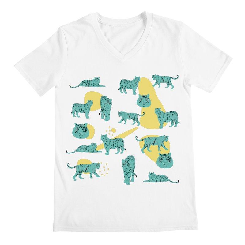 Tigers Men's V-Neck by Boshik's Tshirt Shop