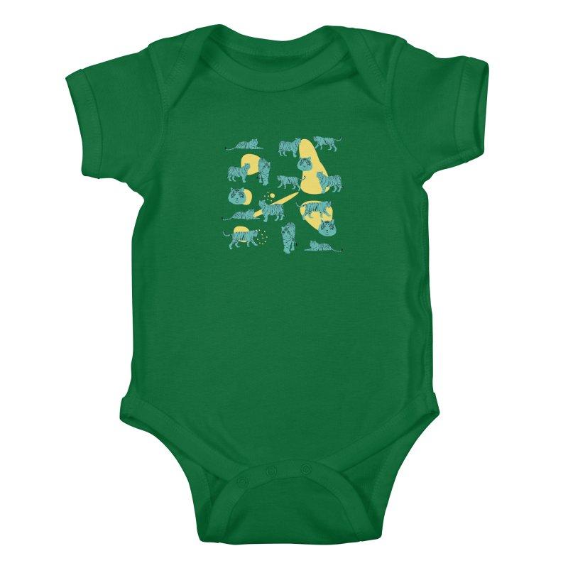 Tigers Kids Baby Bodysuit by Boshik's Tshirt Shop