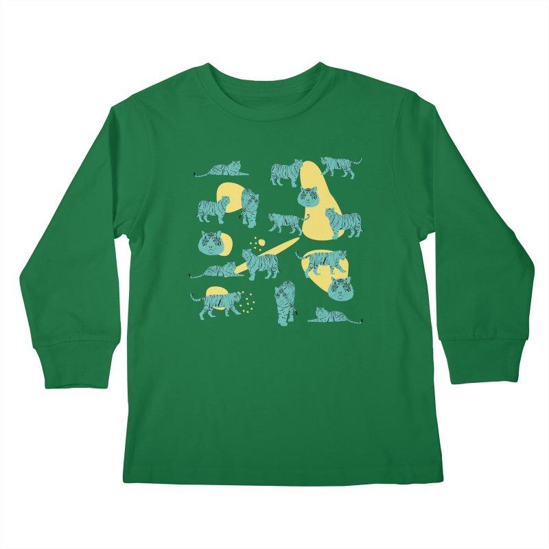 Tigers Kids Longsleeve T-Shirt by Boshik's Tshirt Shop
