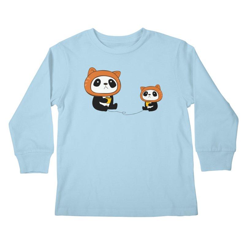 Pandacats Kids Longsleeve T-Shirt by Boshik's Tshirt Shop
