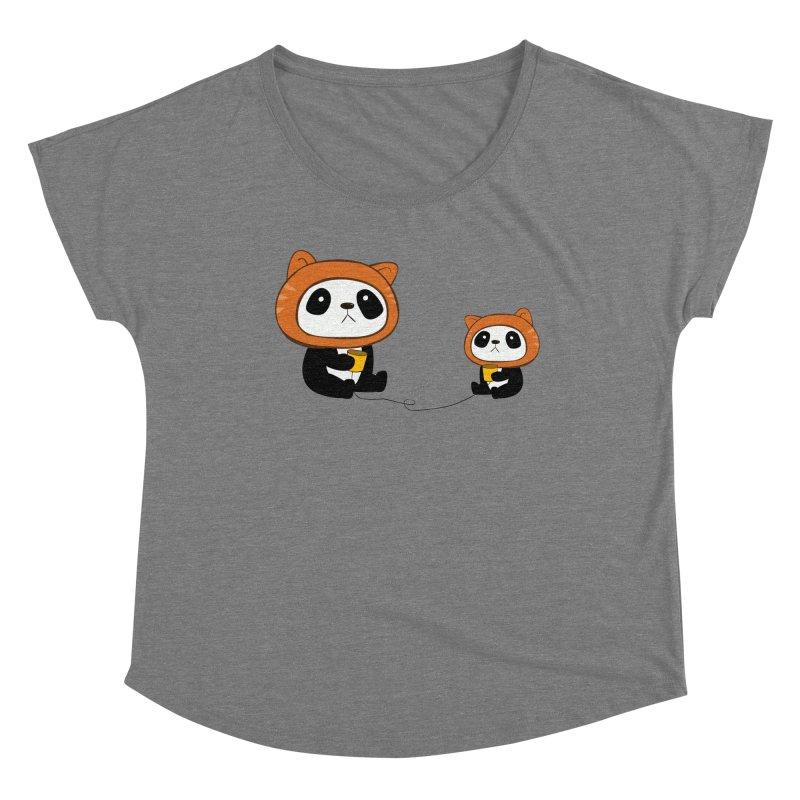 Pandacats Women's Scoop Neck by Boshik's Tshirt Shop