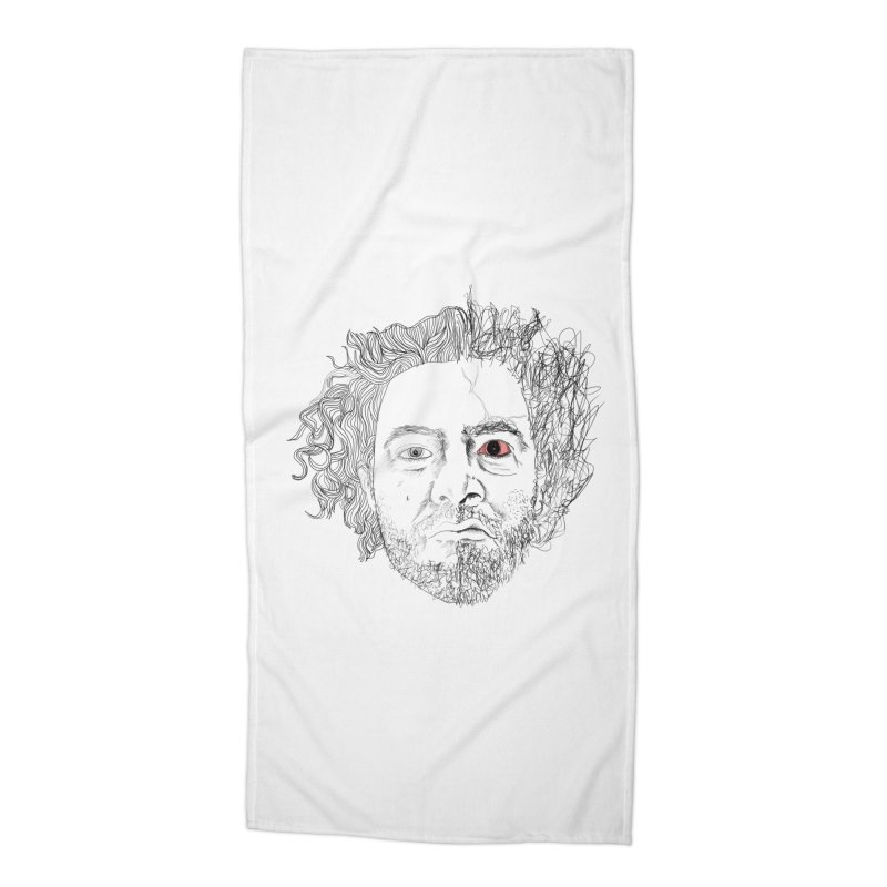 Dr crazy and mister calmb Accessories Beach Towel by Boshik's Tshirt Shop