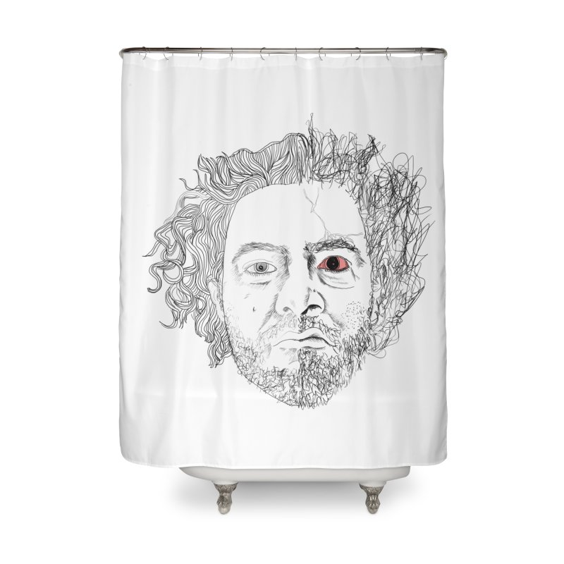 Dr crazy and mister calmb Home Shower Curtain by Boshik's Tshirt Shop
