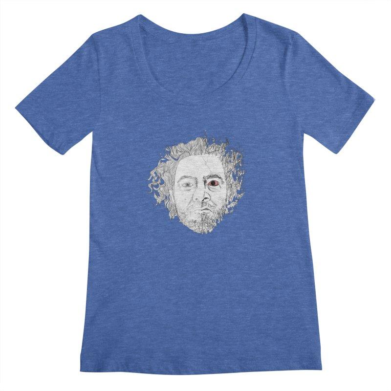 Dr crazy and mister calmb Women's Regular Scoop Neck by Boshik's Tshirt Shop