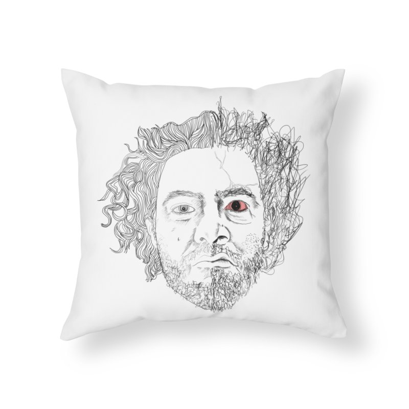 Dr crazy and mister calmb Home Throw Pillow by Boshik's Tshirt Shop