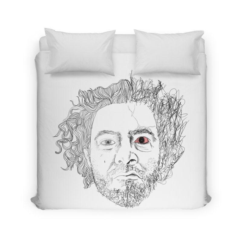 Dr crazy and mister calmb Home Duvet by Boshik's Tshirt Shop