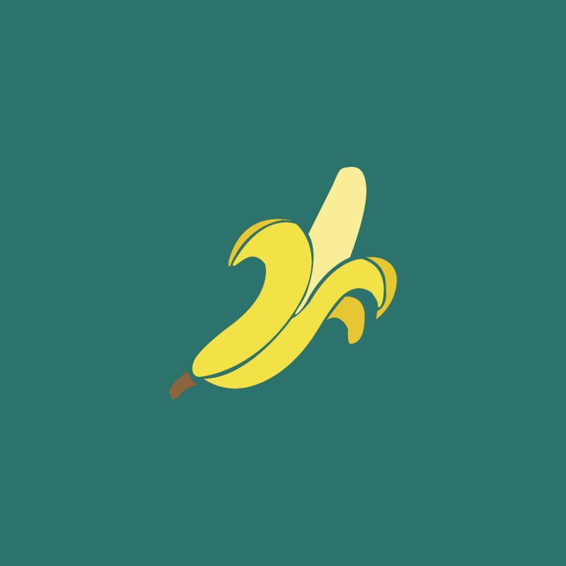 Banana Accessories Magnet by Boshik's Tshirt Shop