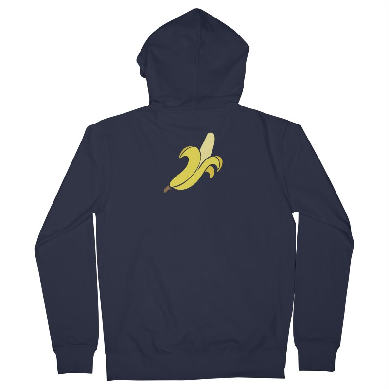 Banana Women's French Terry Zip-Up Hoody by Boshik's Tshirt Shop