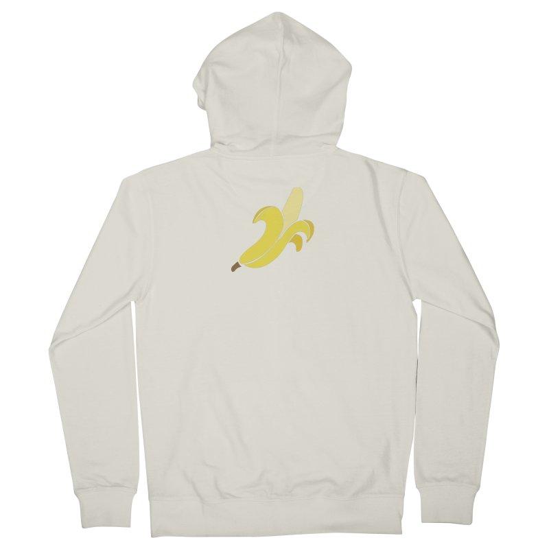 Banana Men's French Terry Zip-Up Hoody by Boshik's Tshirt Shop