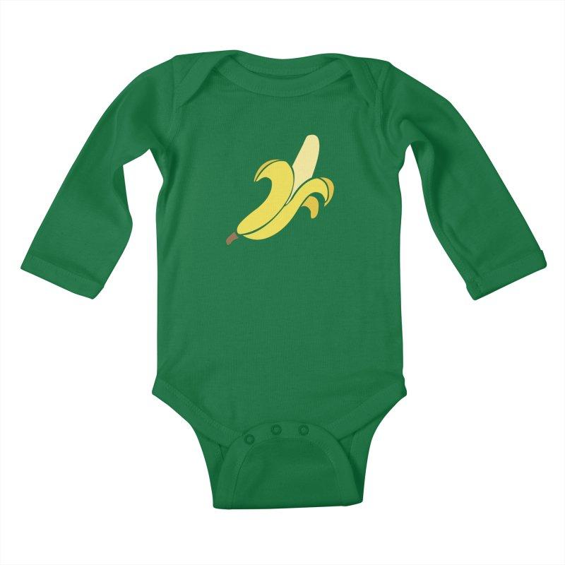 Banana Kids Baby Longsleeve Bodysuit by Boshik's Tshirt Shop