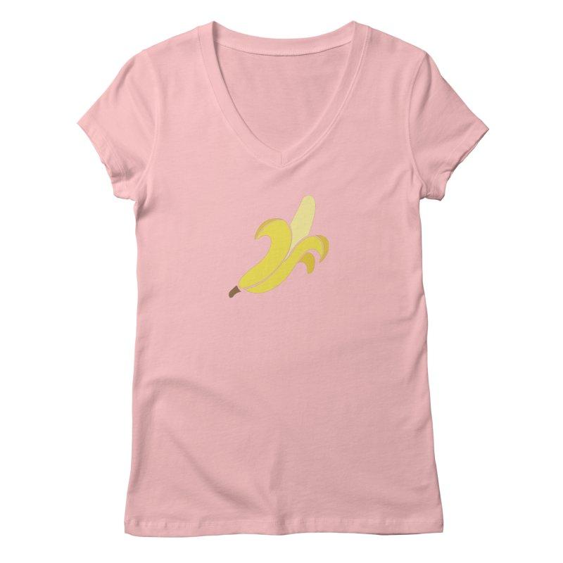Banana Women's Regular V-Neck by Boshik's Tshirt Shop