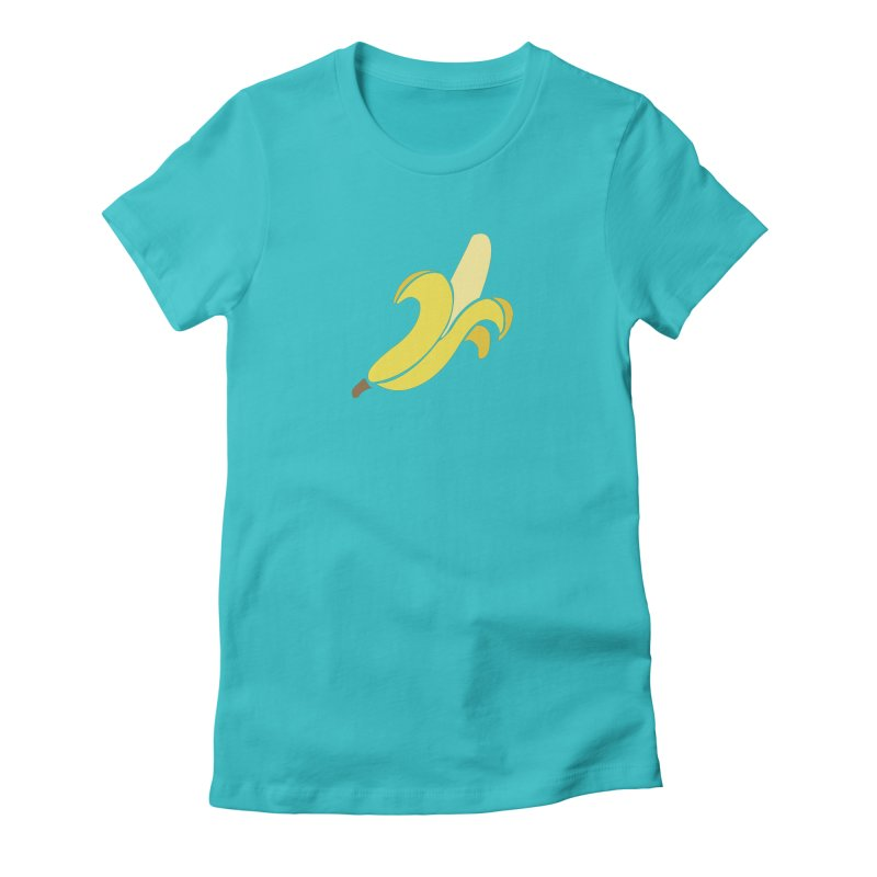 Banana Women's Fitted T-Shirt by Boshik's Tshirt Shop