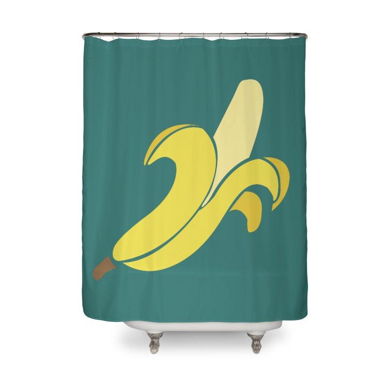 Banana Home Shower Curtain by Boshik's Tshirt Shop