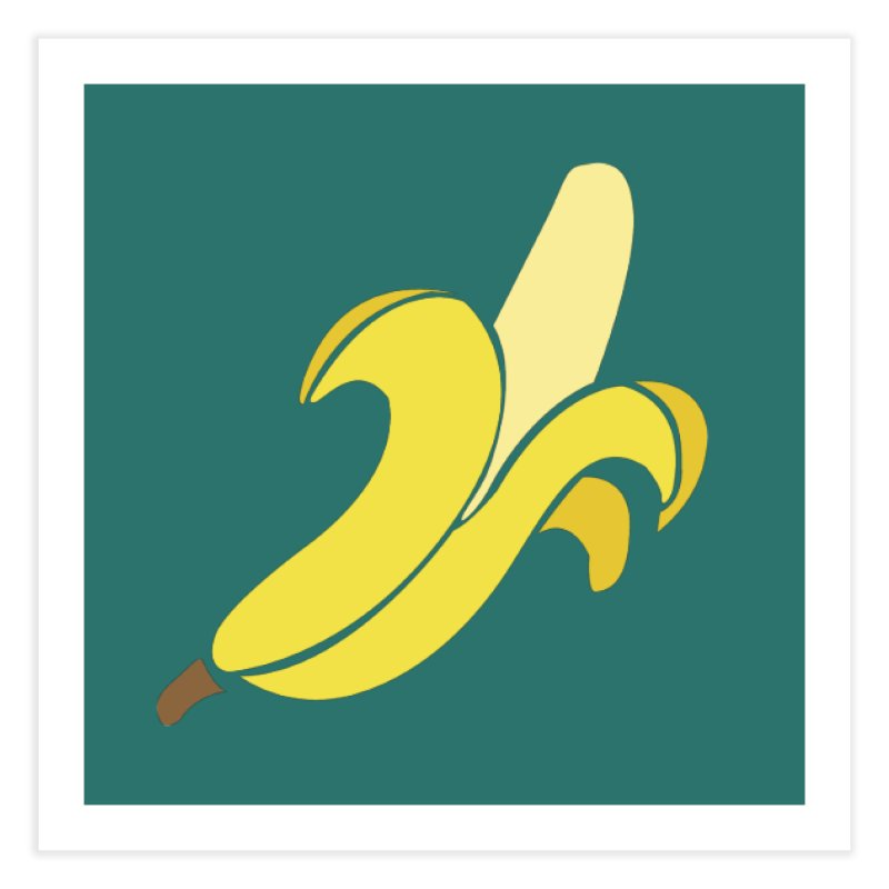 Banana Home Fine Art Print by Boshik's Tshirt Shop
