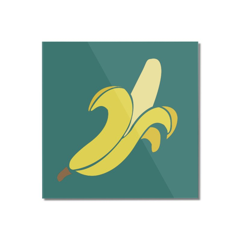 Banana Home Mounted Acrylic Print by Boshik's Tshirt Shop