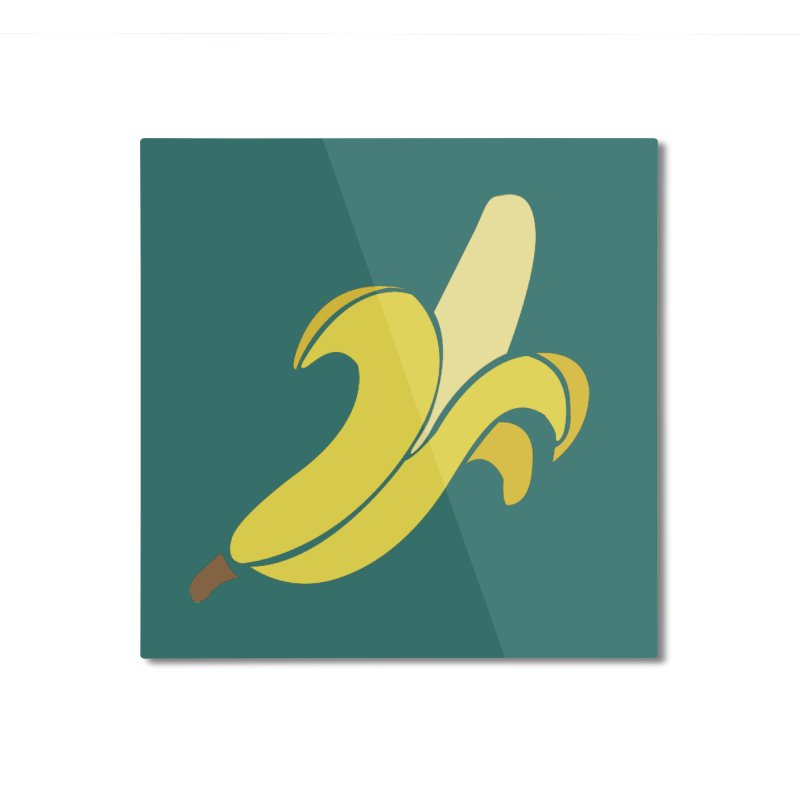 Banana Home Mounted Aluminum Print by Boshik's Tshirt Shop
