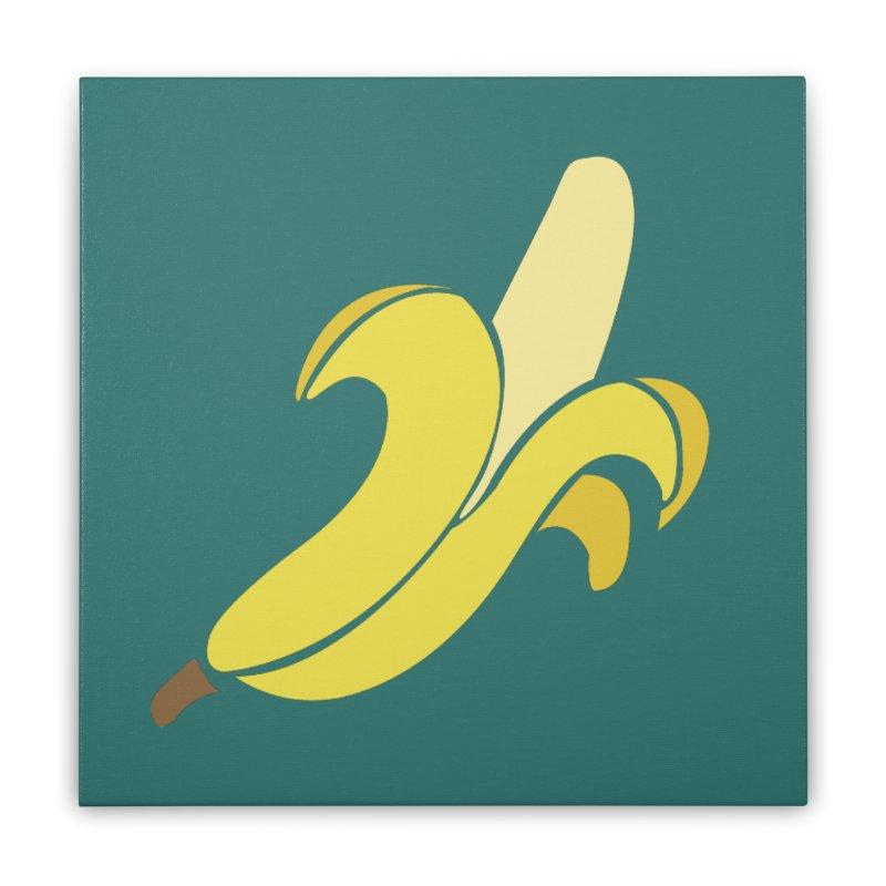 Banana Home Stretched Canvas by Boshik's Tshirt Shop