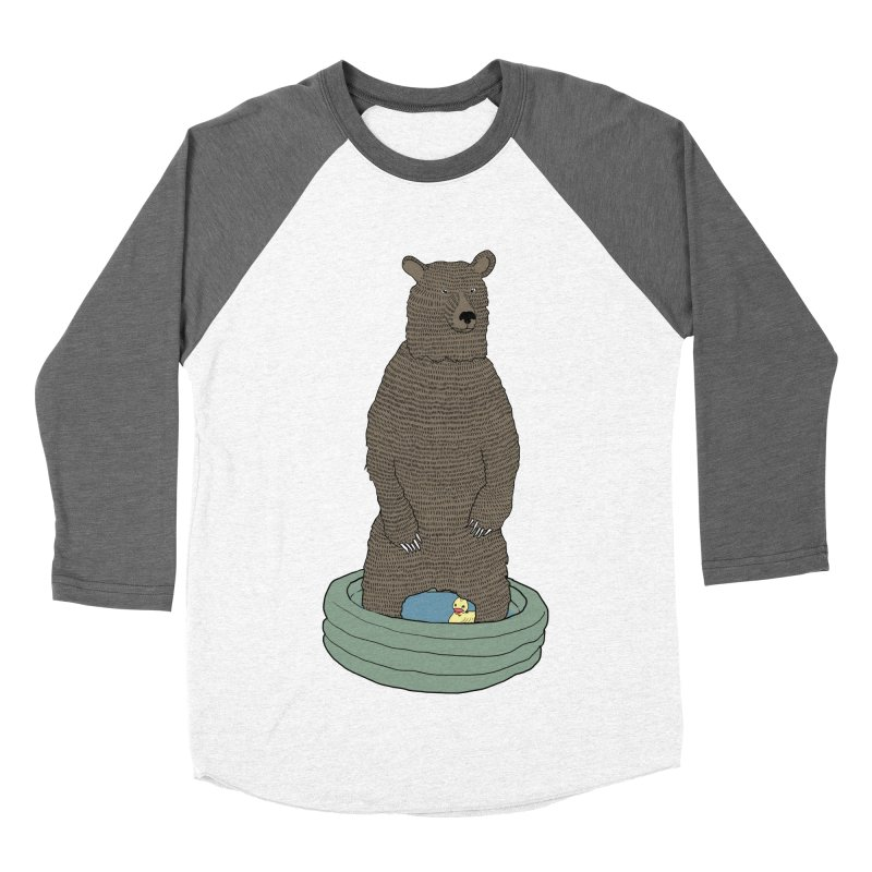 Bear in a pool Women's Baseball Triblend Longsleeve T-Shirt by Boshik's Tshirt Shop