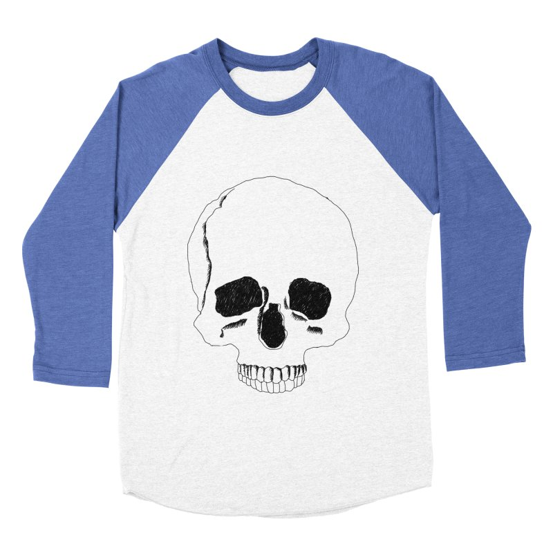 Skull Women's Baseball Triblend Longsleeve T-Shirt by Boshik's Tshirt Shop