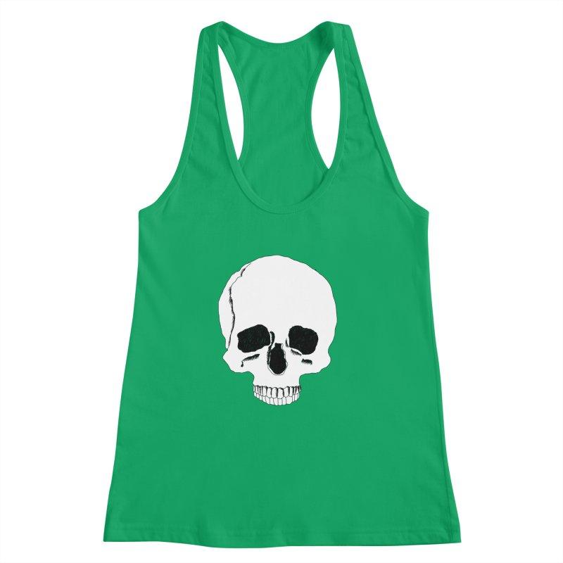 Skull Women's Racerback Tank by Boshik's Tshirt Shop