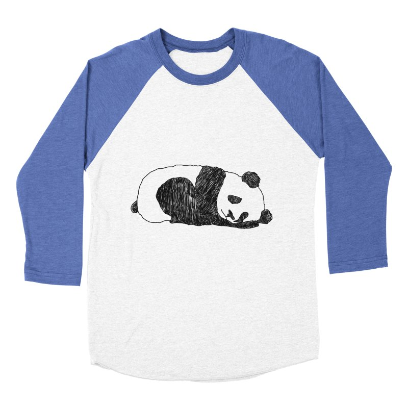 Sleeping panda Women's Baseball Triblend Longsleeve T-Shirt by Boshik's Tshirt Shop