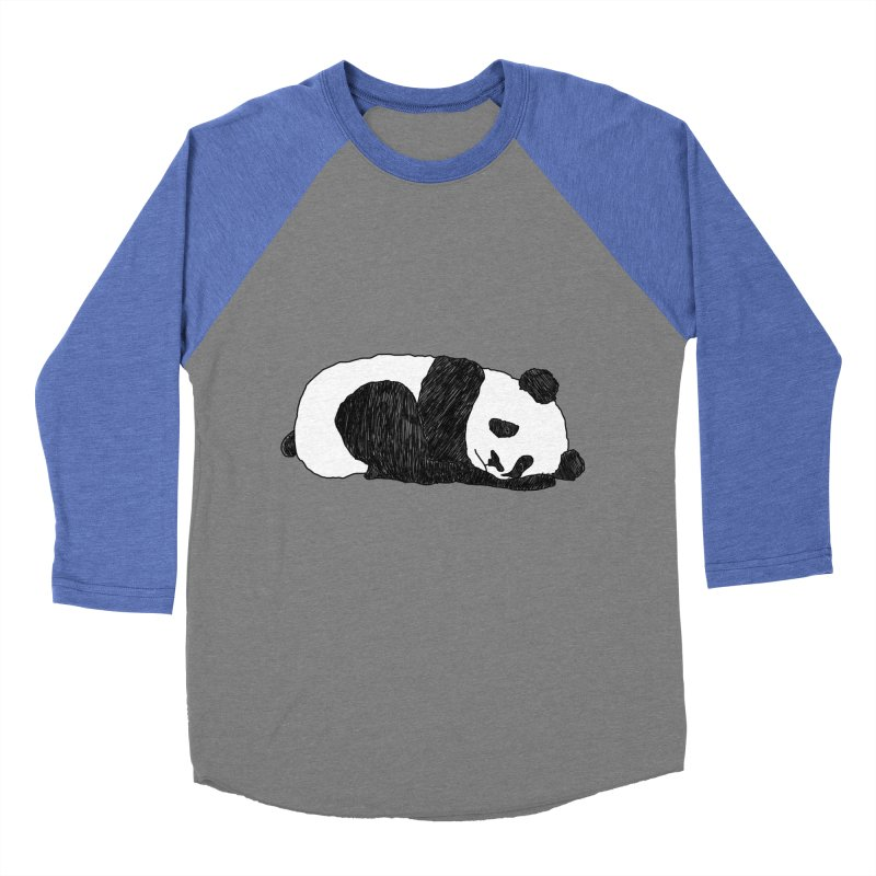 Sleeping panda Women's Baseball Triblend Longsleeve T-Shirt by Boshik's Tshirt Shop