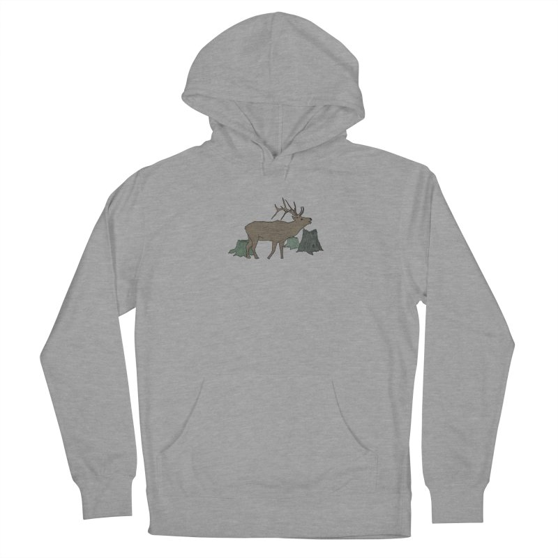 Bull Alk Men's French Terry Pullover Hoody by Boshik's Tshirt Shop