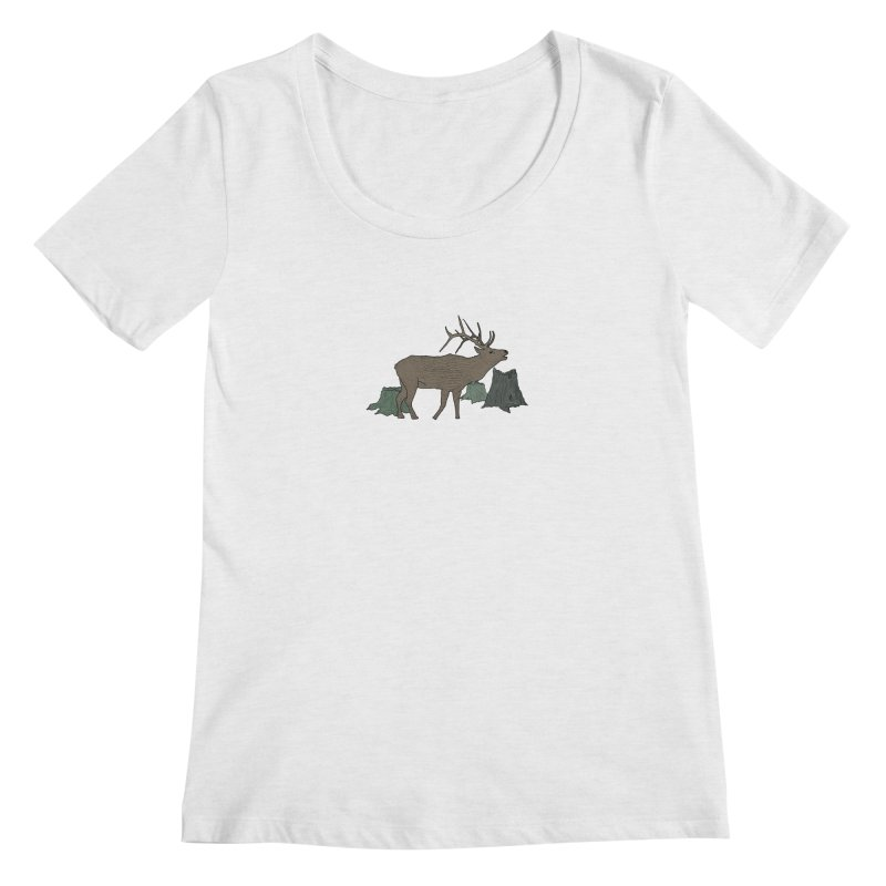 Bull Alk Women's Regular Scoop Neck by Boshik's Tshirt Shop