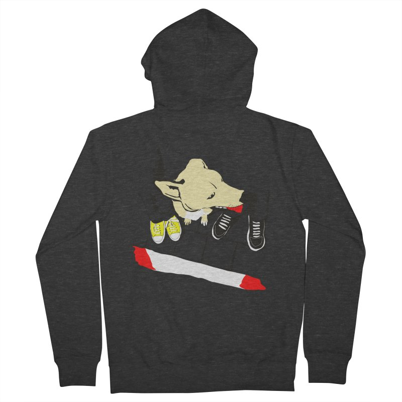Sneakers & Dogs Men's Zip-Up Hoody by Boshik's Tshirt Shop
